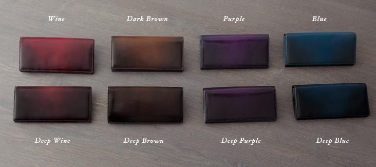 ユハクの染色長財布